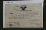 WWI 1917 U.S. Army promotion certificate.