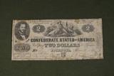 1862 $2.00 Richmond Confederate States Note