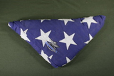 Vietnam War soldier's burial flag with wings