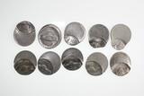 (10) Jefferson nickel error coins.