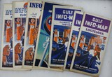 Group of (7) 1930's Antique Gulf Oil Road Maps