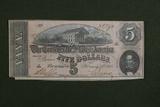 1864 $5.00 Richmond Confederate Note
