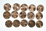 (15) Lincoln cent error coins.  Off-center strikes.