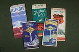 Group of (6) 1930's Antique Road Maps