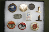 Group of Advertising Pins, Tokens, etc.