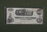 Civil War CSA $100.00 note.