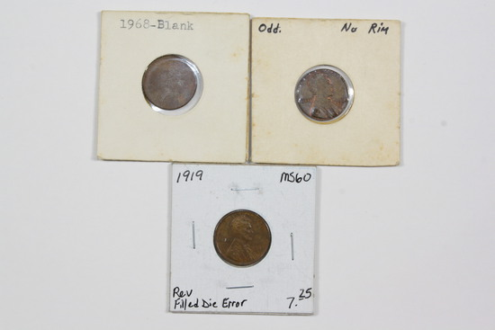 (3) Error Cents - incl blank