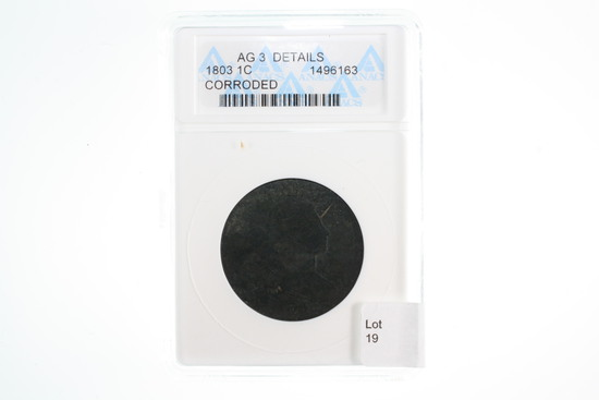 1803 Graded Large Cent - ANACS AG3