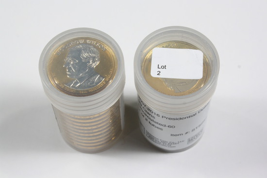 Two Tubes Presidential Dollar Set