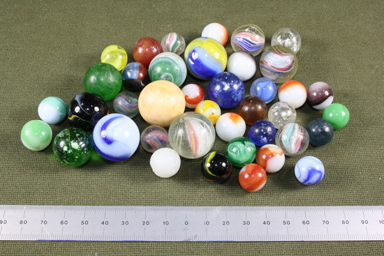 Lot of antique glass marbles.