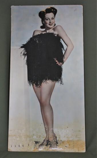 Photo poster of GI pin-up girl Rebel Randall.