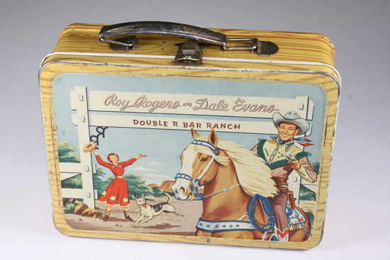 """1954 Roy Rogers lunch box/pail """"Double R Bar Ranch"""""""