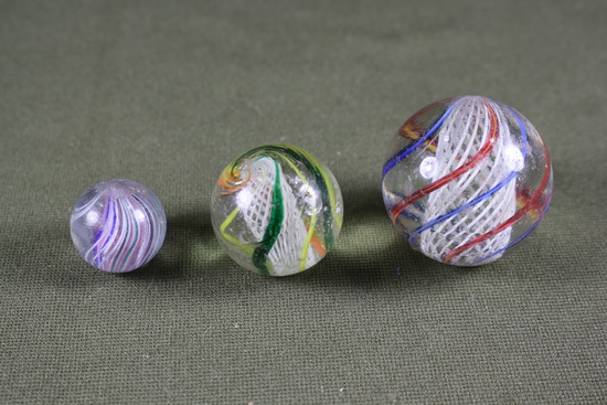 Lot of large antique glass marbles.