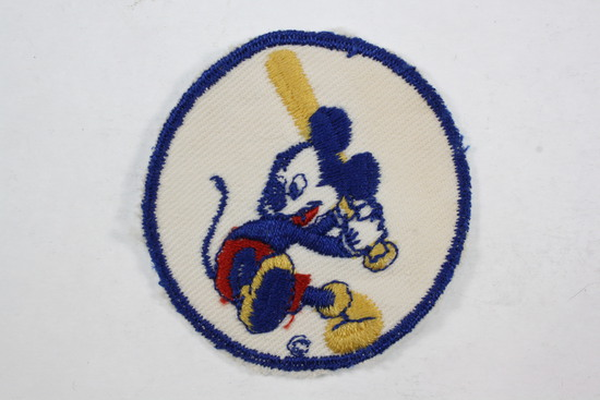 1940's Bond Bread WWII Mickey Mouse Baseball Patch