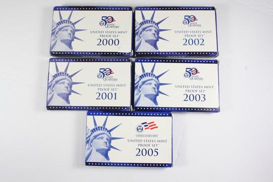 (5) US Mint Proof Sets
