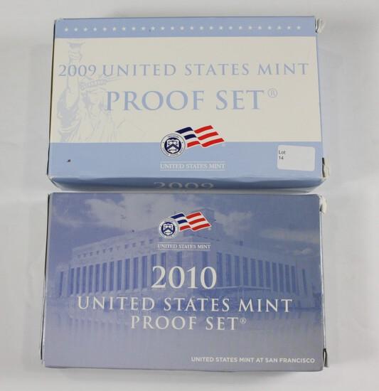(2) US Mint Proof Sets: 2009/2010