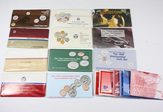 Large Lot of US Mint UNC Sets