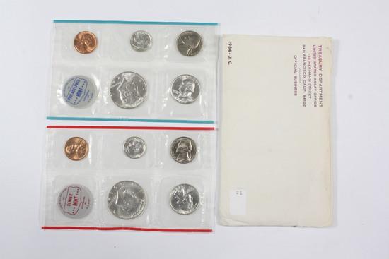 1964 US Mint UNC Set (P/D)