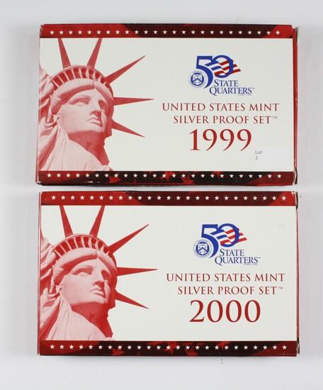 (2) US Mint Silver Proof Sets: 1999/2000