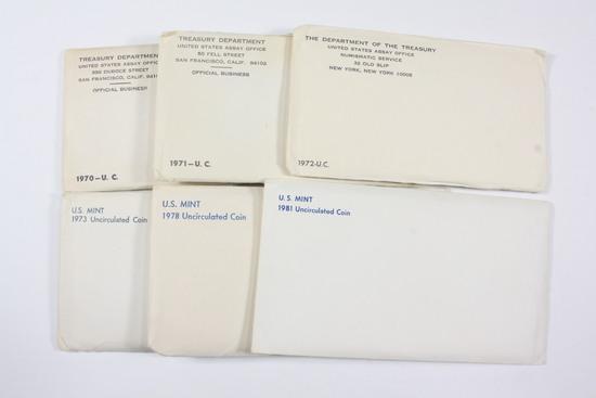 (6) 70's/80's Era UNC Sets