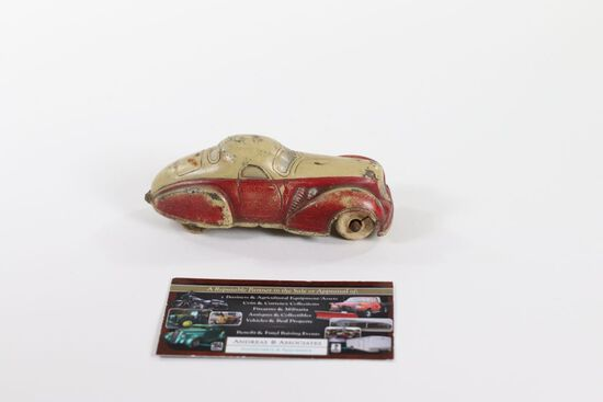 1930's Sun Rubber 2-door coupe toy car