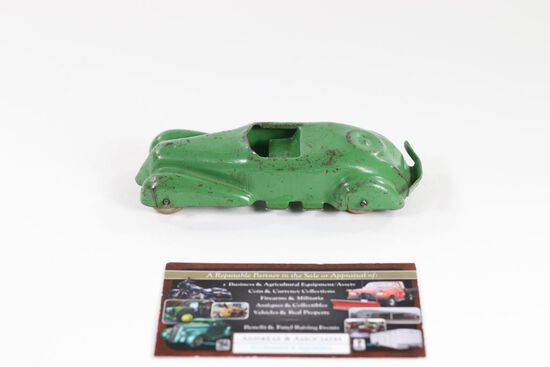 1930's pressed steel convertible toy car