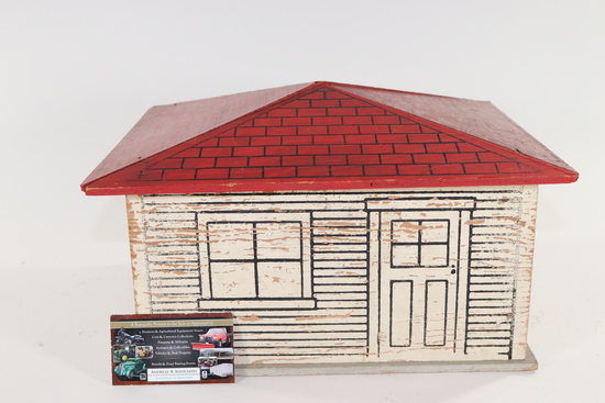 1940's wooden garage for toy cars.