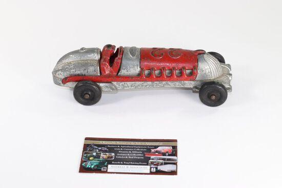 1930's Hubley metal #22 toy racer.