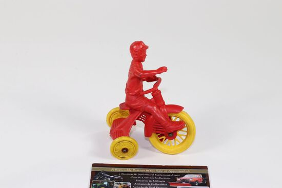 """Antique Auburn Rubber """"Boy on a Bicycle"""""""