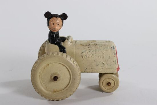 """1930's Sun Rubber """"Mickey Mouse"""" tractor"""