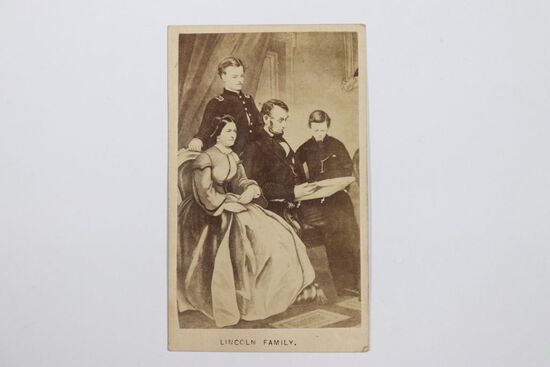 Civil War CdV of Abraham Lincoln and his family