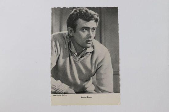 "1960's German ""James Dean"" postcard size photo card"