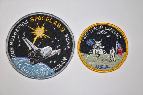 NASA Group of (2) Vintage Mission Patches