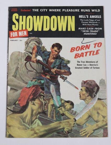 Showdown/ Feb. 1958 Mens Adventure Mag.