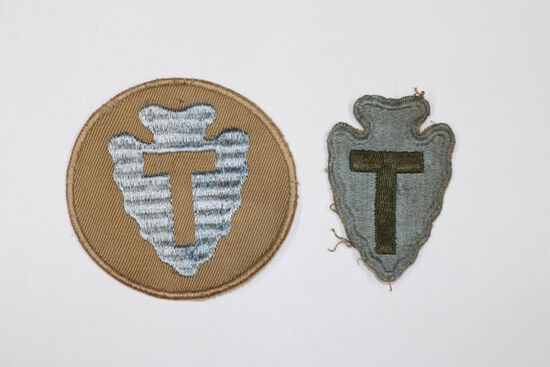 (2) Different U.S. 36th Infantry Division patches