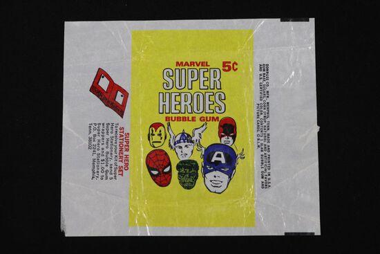 1966 Donruss Marvel Superheroes gum card wrapper.