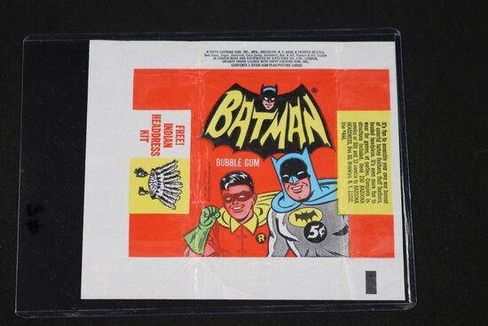1966 Topps Batman gum card wrapper