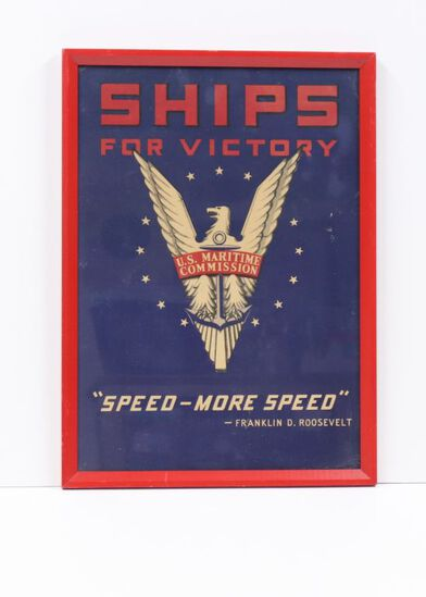 """WWII U.S. Maritime """"Ships for Victory"""" poster."""