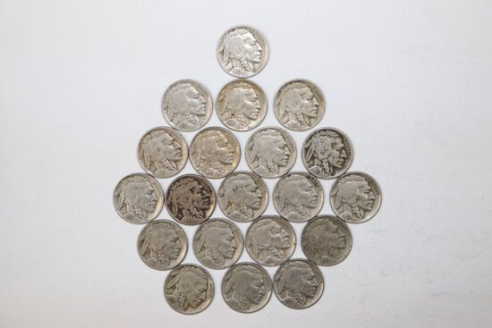 Lot (20) Buffalo nickels