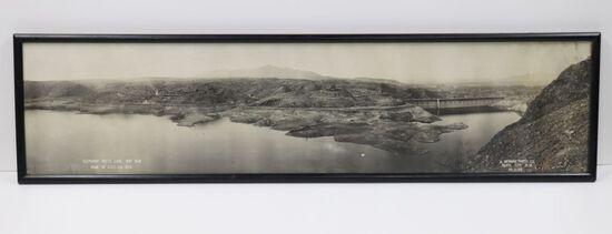 "Framed 35"" photo Elephant Butte Lake and Dam"
