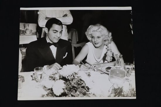 """Antique 10"""" x 12"""" Jean Harlow candid photo."""