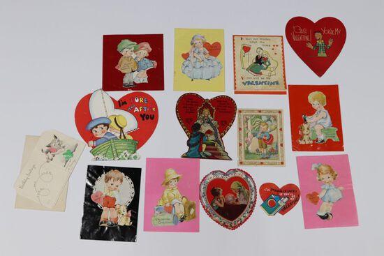 Lot (12) Antique Valentines