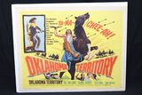 "1960 ""Oklahoma Territory"" western half sheet movie poster"