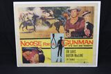 "1960 ""Noose for a Gunman"" half sheet western movie poster"