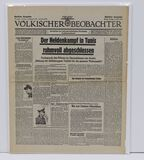 Nazi newspaper 5/14/43 on Afrika Korps surrender