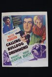 "1951 ""Calling Bulldog Drummond"" movie window card/poster"