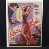 "1952 ""Linda Mujer"" /  Pretty Woman Mexican movie poster"