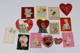 Lot (12) Antique Valentines
