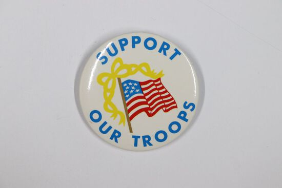 1991 Gulf War Support Our Troops Pin-Back