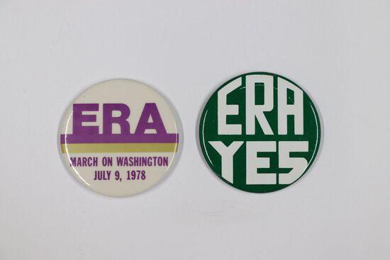 Lot of (2) 1978 Washington ERA March Pins